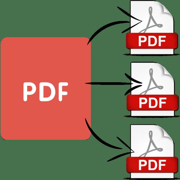 Беттердегі PDF файлын қалай бөлу керек