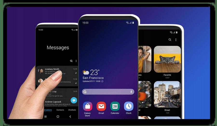 Samsung'da bir UI arayüzü