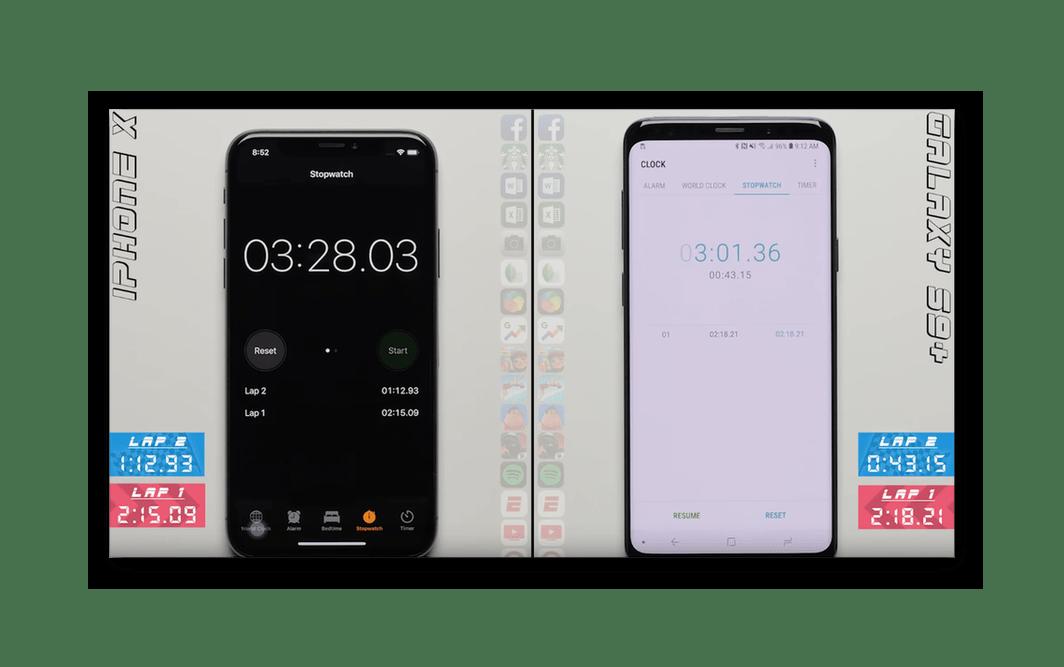 İkinci test ios 12 ve Android 8 sonuçları
