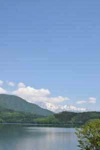 青木湖から北アルプス