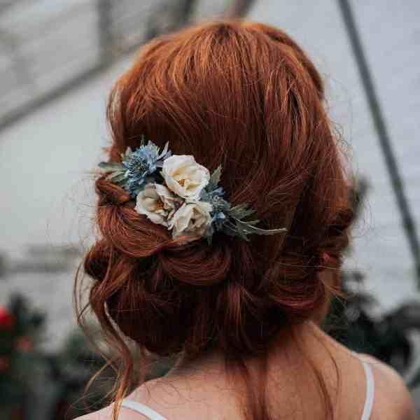 Lara Wild Rose Hair Comb