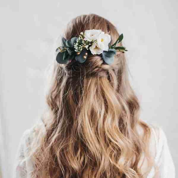 Sage eucalyptus hair comb