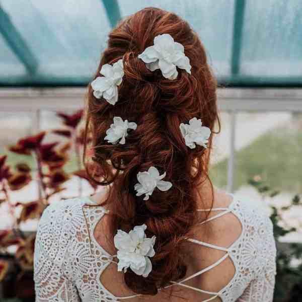 Serena Delphinium Hair Pin