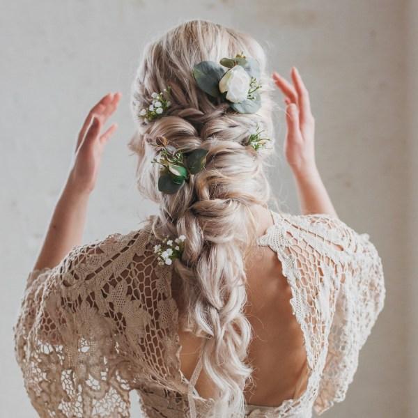Soroya Rose And Eucalyptus Wedding Hair Pins