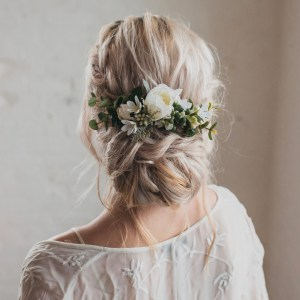 Serenity Wedding Flower Hair Comb Bridal Accessory