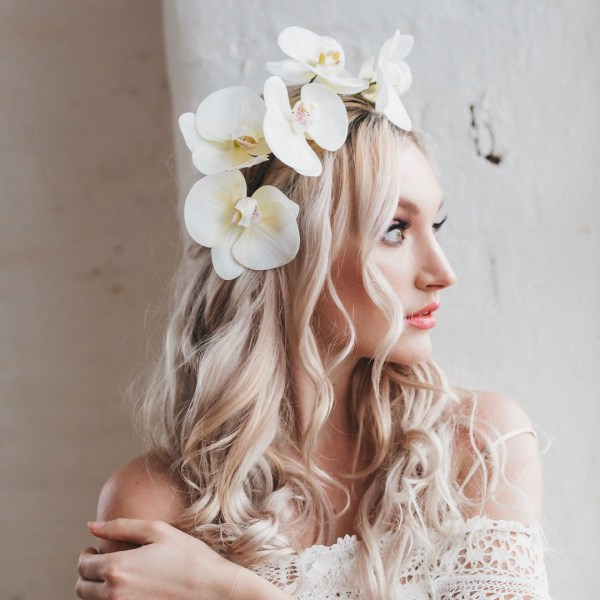 Esme Ivory Orchid Headband