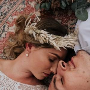 Tabitha Boho Dried Flower Crown Wedding Headband