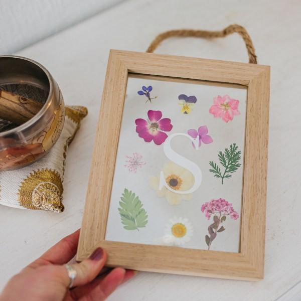 Personalised Initial Wooden Pressed Flower Frame
