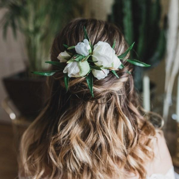 Luna and wild Fleur Peony Wedding Flower Bridal Hair Comb