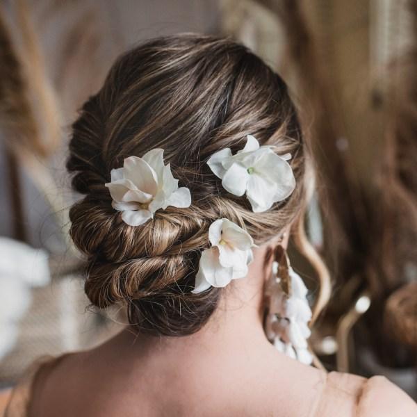 Emilia Hydrangea Wedding Flower Hair Pin x1