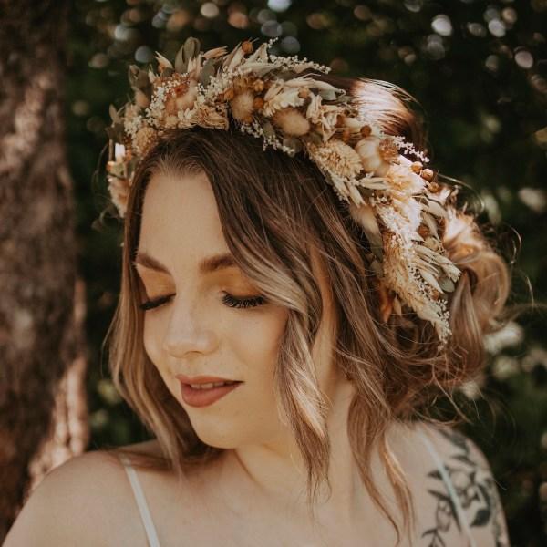 Roxie Dried Flower Crown Bohemian Wedding Headband