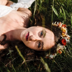 Indiana Autumn Dried Flower Crown Wedding Headband