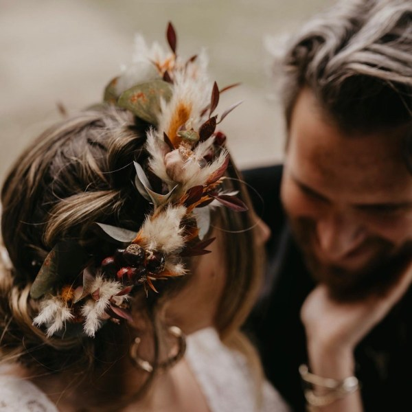 Lennox Autumn Wedding Flower Crown Headband