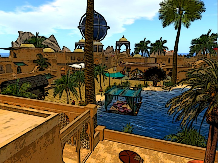 Oasis of Four Palms