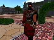 A masked guard