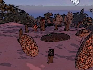 A stone circle
