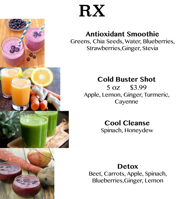 Juices & Shots Poster