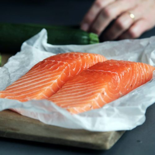 Garlic Roasted Salmon