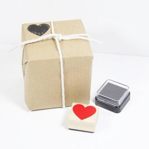 timbro cuore scatola