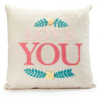 cuscino in tela i love you