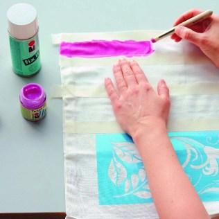 pintura tejido