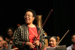 The Harlem Symphony Orchestra performing at the Apollo Theater soloist: Diane Monroe