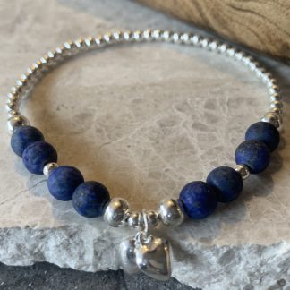 sterling silver and agate charm bracelet