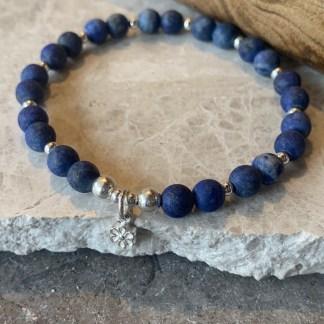 Blue agate charm bracelet