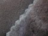 ムートンメリノ生地:表革チャコルグレー