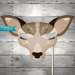 Do you have a stick and a printer? This artist makes a number of on-demand printable masks.