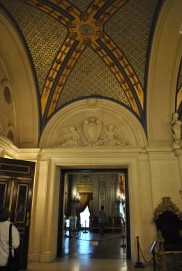 Breakers doorway and ceiling