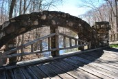 Gillette castle pond bridge closeup