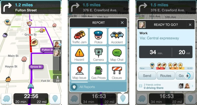 Mobile app with GPS navigation