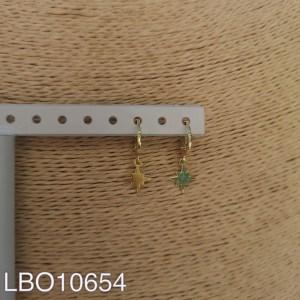 Aros bañados en oro de 25mm LBO10654