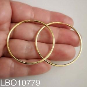 Aros bañado en oro Argolla lisa de 38mm LBO10779