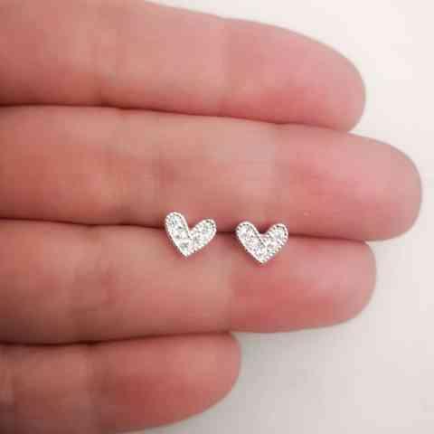 Aro bañado en plata de 6mm Corazón Circones LBO11200