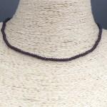 Collar bañado en oro 22k de 38cm Alargue 5cm Cristal 2mm Morado LBO31352