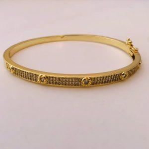 Pulsera bañada en oro 18k Esclava Circones LBO50827