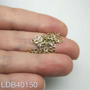 Mostacilla argolla bañada en oro de 2.5mm 1gr 70un o 3cm hilado aprox LDB40150