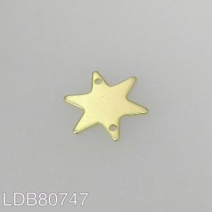 Dije bañado en oro de 15mm estrella LDB80747