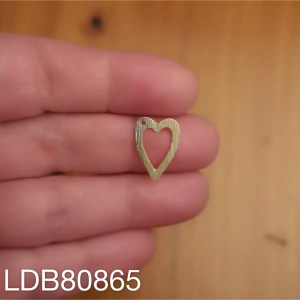 Dije bañado en oro de 16mm Corazón perfil LDB80865