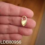 Dije bañado en oro de 16x9mm Candado corazón LDB80956