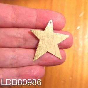 Dije bañado en oro de 32x30mm Estrella 1 dije LDB80986