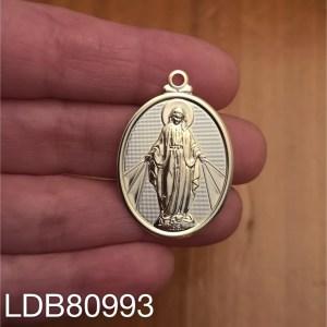 Dije bañado en oro de 55x24mm Medalla Virgen 1 dije LDB80993