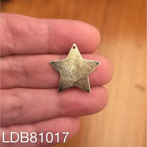Dije bañado en oro de 22x22mm Estrella 1 dije LDB81017