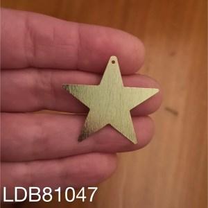 Dije bañado en oro de 29x33mm Estrella 1 dije LDB81047