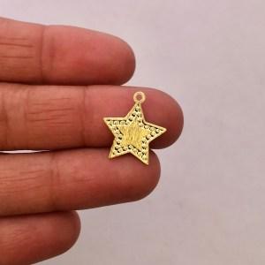 Dije bañado en oro 22k de 16mm Estrella LDB81883