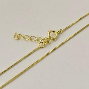 Cadena lista bañada en oro 22k Alargue 3cm Cadena Veneciana LDC10056