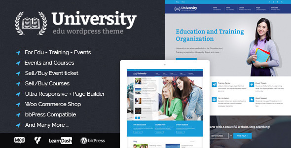 university-most-desired-wordpress-themes-compatible-visualcomposer