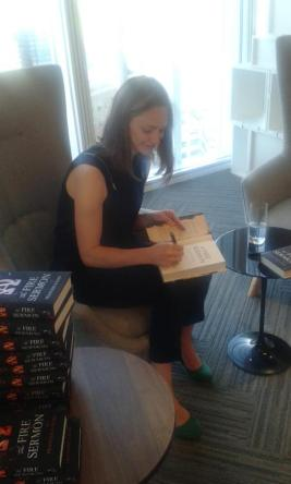 @FrancescaHaig signing copies of #FireSermon